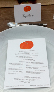 pumpkin menu card