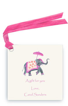 Festive Elephant - fuchsia/Orange