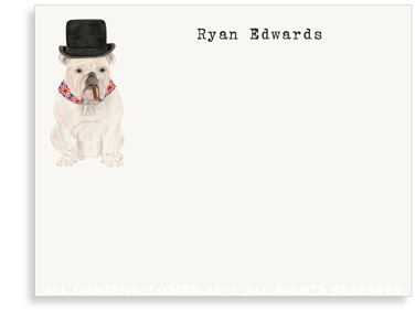 English Bulldog notecard