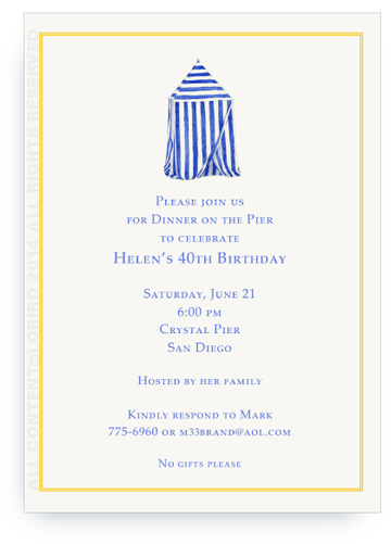 invitation beach cabana