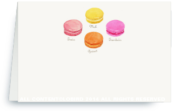 place card macaron bright
