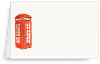 London Phone Booth place card