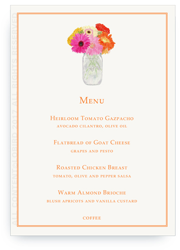 Personalized Illustrated Menu Cards By Lobird