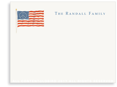 American Flag notecard