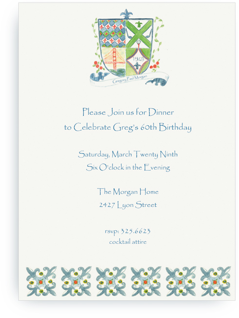 60th birthday invite