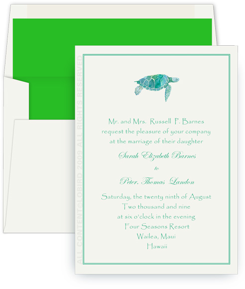 turtle wedding invite