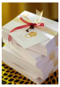 personalized stationery take-homes