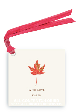 Rustic Red Autumn Leaf