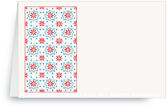 Talavera Tile - red/turquoise