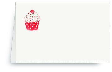 Cupcake-Red Polka Dot