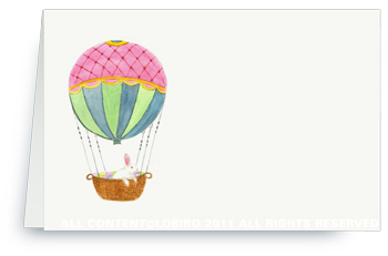 Hot Air Balloon With Easter Rabbit