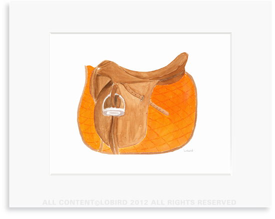 Equestrian-Orange Saddle