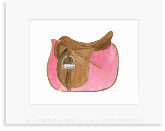 Equestrian-Rose Pink Saddle