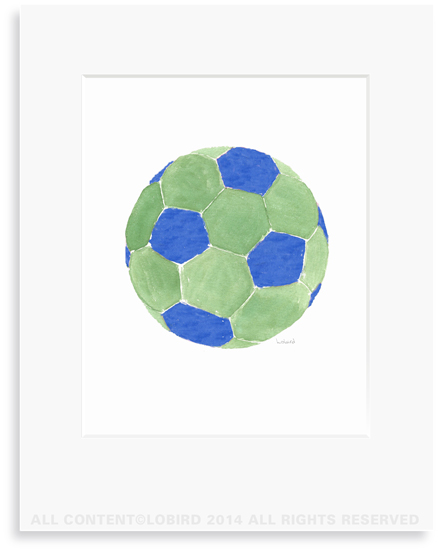 Soccer Ball-blue/green
