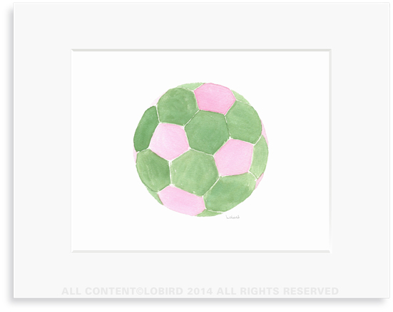 Soccer Ball-Pink/green
