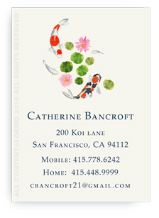 Koi Swimming1 calling card
