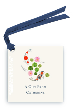 Koi Swimming2 gift tag