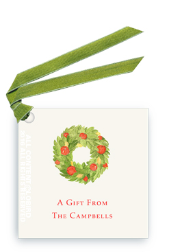 Pomegranate Wreath gift tag