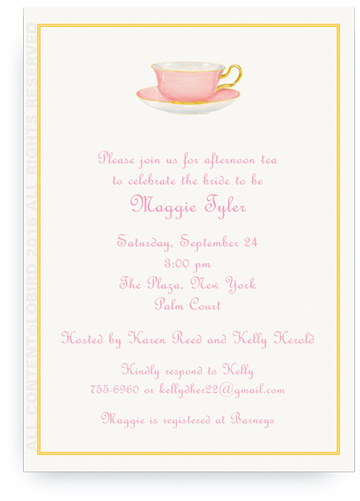 Pink Tea Cup Invite