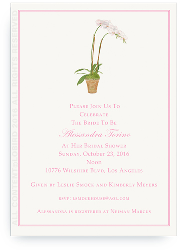 White Orchid Invite