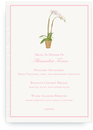 white orchid Menu