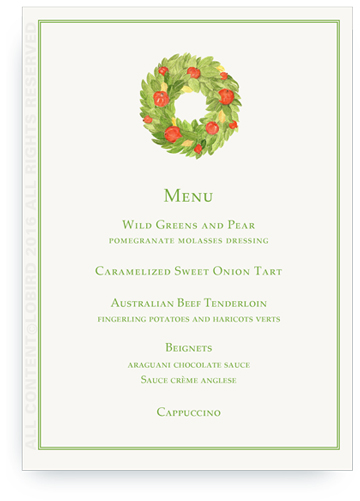 Pomegranate Wreath MENu