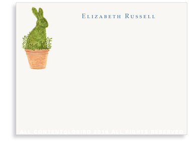 flat rabbit topiary notes
