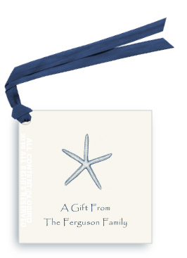 starfish tag - navy